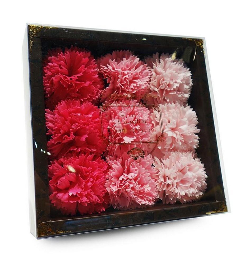 バスフレグランス カーネーション 【 ピンク 】 母の日 ギフトボックス入り 花の形の入浴剤 ソープフラワー ウエディング_画像3