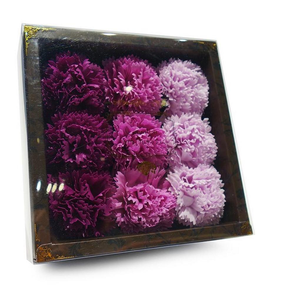 バスフレグランス カーネーション 【 パープル 】母の日 ギフトボックス入り 花の形の入浴剤 ソープフラワー ウエディング_画像3