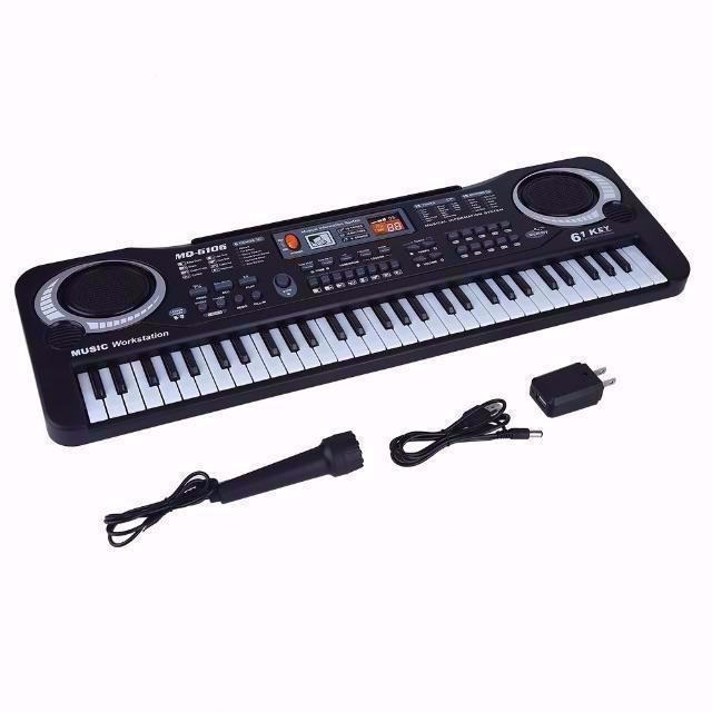 電子キーボード 61キー キッズピアノ デジタルキーボード 多機能 音楽キーボー_画像1