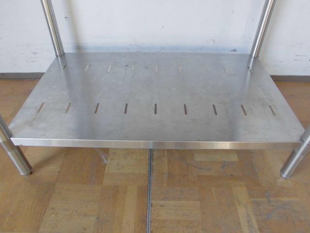 中古厨房 業務用 マルゼン ステンレス 作業台 調理台 BW-096N 蓋付ホテルパン 9個 スノコ板付 W900×D600×H800mm 台 棚 店舗_画像7