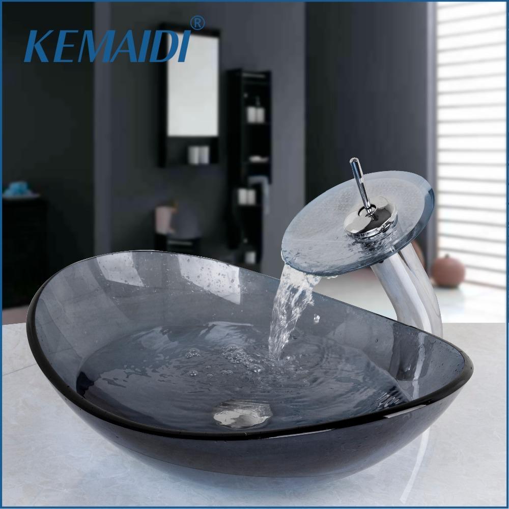 ガラス 洗面台 洗面ボウル 水栓セット 排水 ポップアップドレイン 蛇口 クローム ヨーロッパ風 欧風 モダン デザイン インテリア