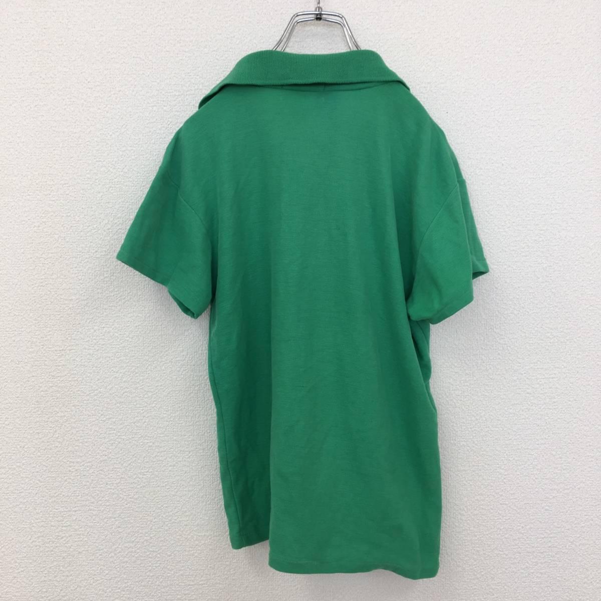 【ブルーロゴ】ラコステ 半袖 ポロシャツ ワンポイント Sサイズくらい グリーン