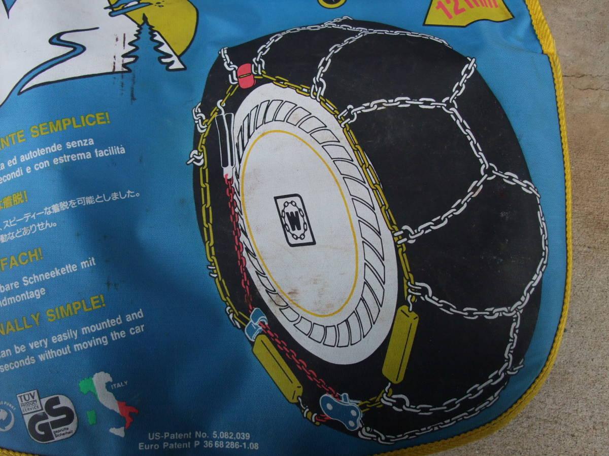 ★☆ティックタック TIKTAK MAGNETIC 金属タイヤチェーン R12 収納ケース付き中古品☆★_画像7