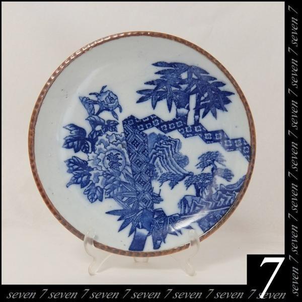 アンティーク 明治~大正時代◆約22cm 平皿 5枚組★和食器_画像1
