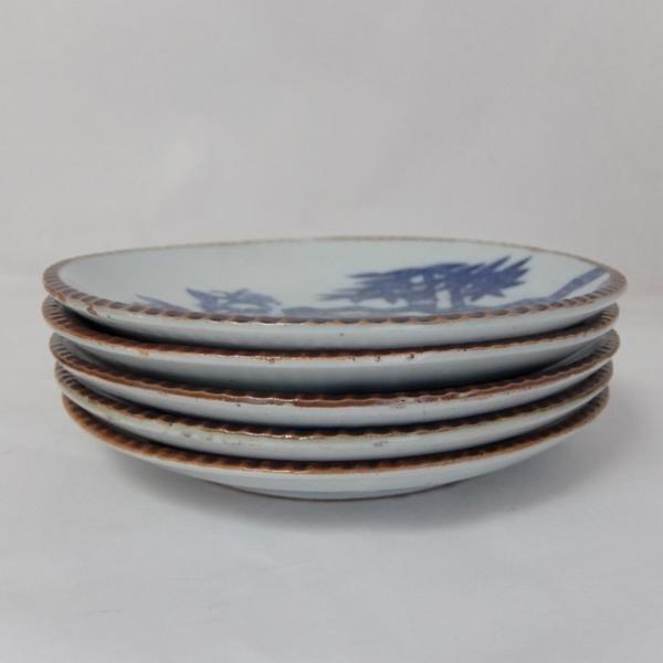 アンティーク 明治~大正時代◆約22cm 平皿 5枚組★和食器_画像3