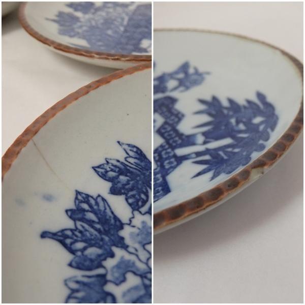 アンティーク 明治~大正時代◆約22cm 平皿 5枚組★和食器_画像5