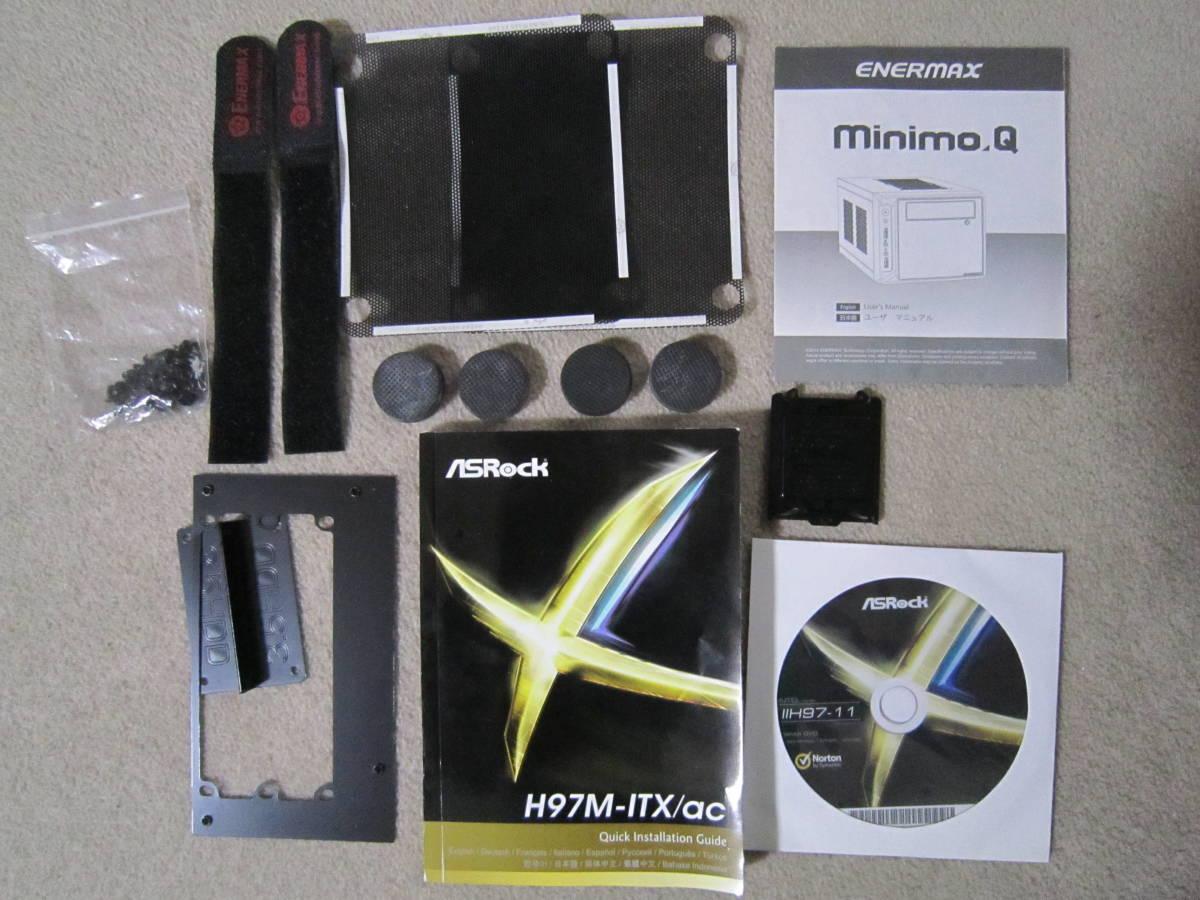 自作PC i7-4790 MiniITX HDD SATA600-500GB メモリ4GB×2(8GB)稼働確認済み_画像4