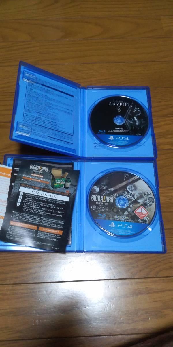 【送料無料】PlayStation VR CUHJ-16003 CUH-ZVR2 + Skyrim VR・バイオハザード 7 (PSVR本体+専用ソフト2本)_画像3