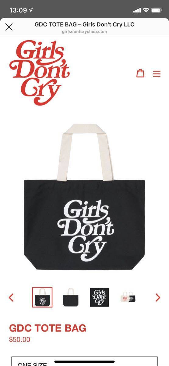 girls don't cry GDC TOTE BAG ガールズドントクライ GDCトートバッグ新品即完売正規VERDY nigo human made