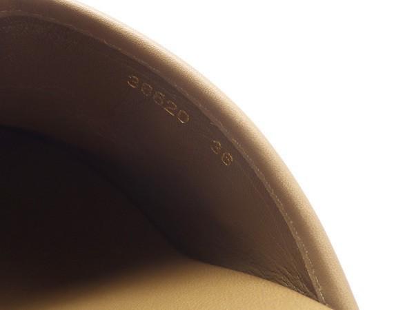 ★未使用 sergio rossi セルジオロッシ ウッドサボ カモフラージュ ベージュカーキ サイズ36(23cm) 迷彩柄 袋/箱_画像6