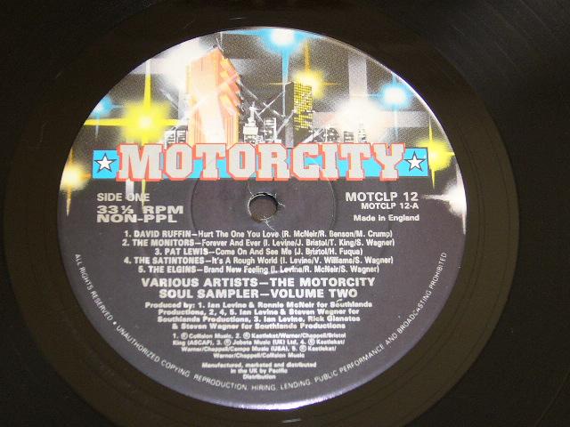 VA / MOTORCITY SOUL SAMPLER VOLUME TWO/ 1990年盤 / MOTCLP 12 / UK盤 / 試聴検査済み_画像3