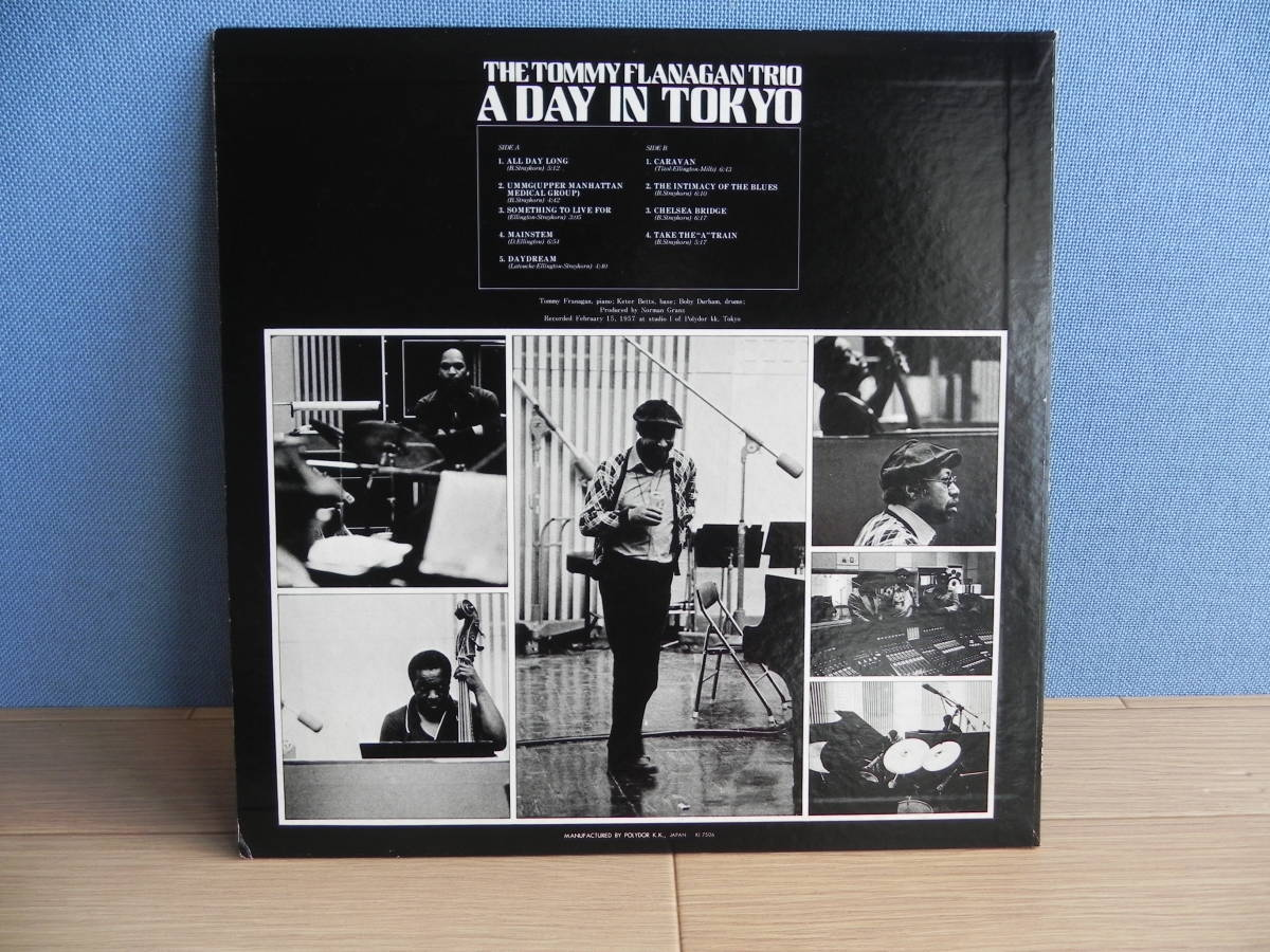 LP【国内盤/Pablo Records/ポリドール】The Tommy Flanagan Trio/ A Day In Tokyo ☆MW 2120/1975年_画像9