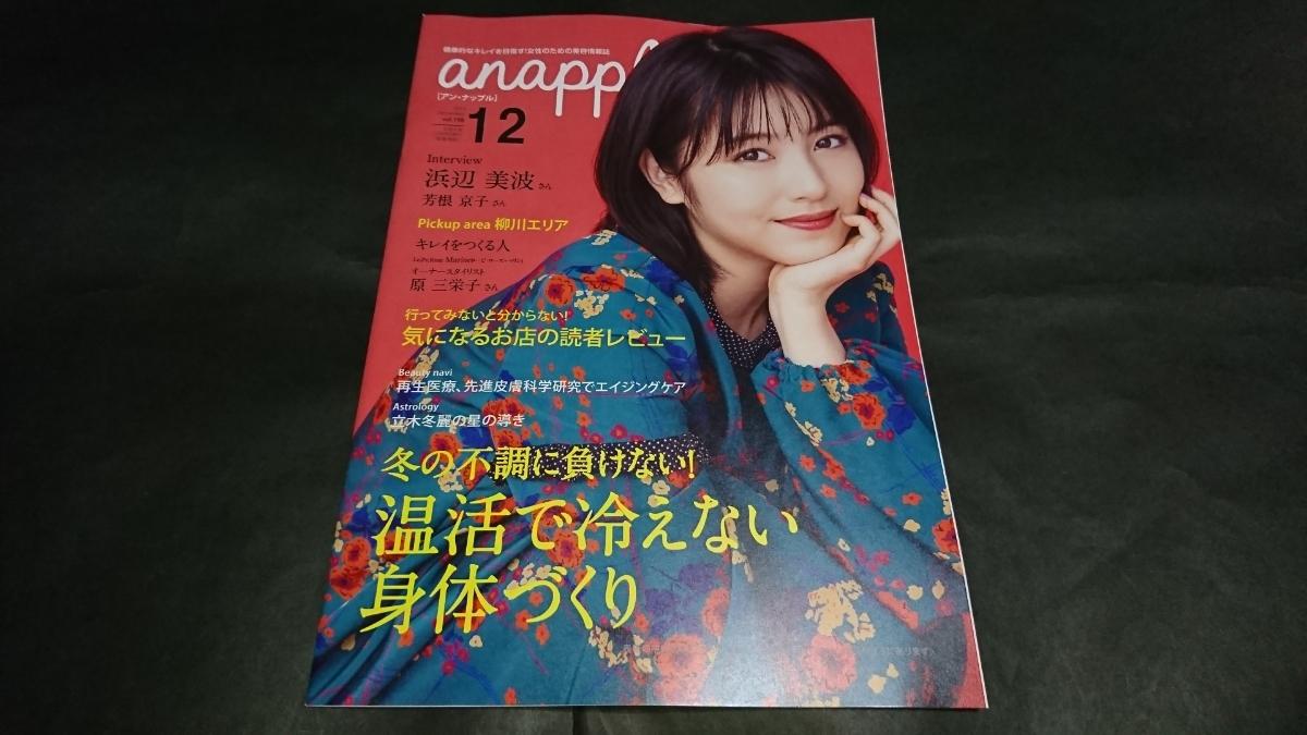 anapple(アンナップル) 2019 December vol.198 浜辺美波表紙 芳根京子掲載 地方限定誌