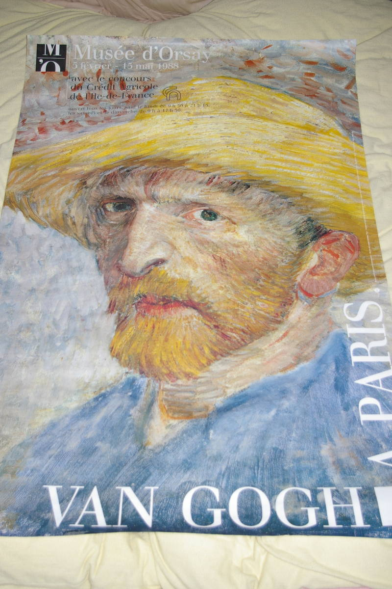 オルセー美術館 1988年 ゴッホ展 100×148㎝ 超特大ポスター 超貴重 入手困難 _画像1