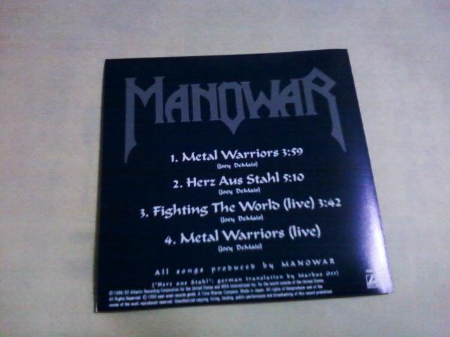 送料込 Manowar - Metal Warriors☆Accept Virgin Steele Grave Digger Gamma Ray Saxon Running Wild _画像3