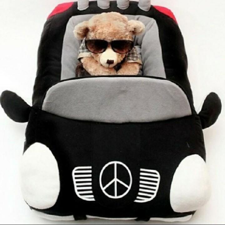 ペット ベッド クッション ブラックカー