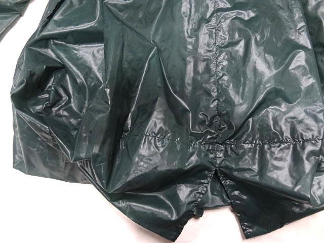 イッセイミヤケ ナイロン 緑 モスグリーン カラー パッカリング 変形 立体 シルエット Aライン コート 巾着 90S レア ポーチ ジャケット 2_画像7
