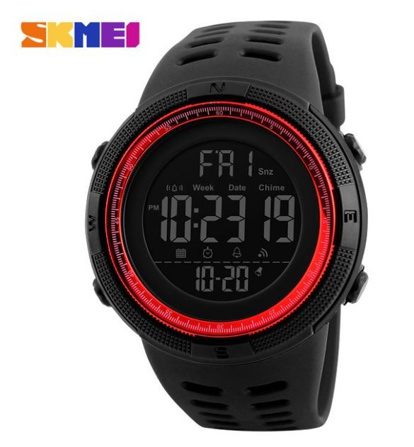 【SKMEI ファッション屋外スポーツ腕時計】メンズ多機能腕時計 アラーム時計 クロノ 5Bar 防水デジタル腕時計 A308_画像3
