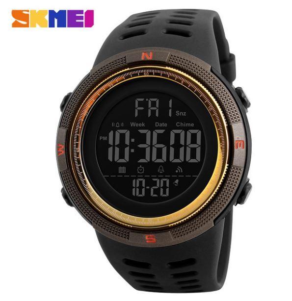 【SKMEI ファッション屋外スポーツ腕時計】メンズ多機能腕時計 アラーム時計 クロノ 5Bar 防水デジタル腕時計 A308_画像2