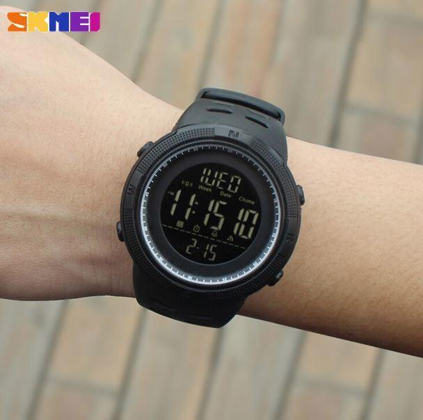 【SKMEI ファッション屋外スポーツ腕時計】メンズ多機能腕時計 アラーム時計 クロノ 5Bar 防水デジタル腕時計 A308_画像9