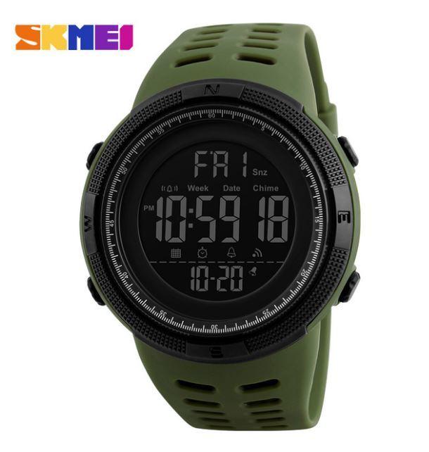 【SKMEI ファッション屋外スポーツ腕時計】メンズ多機能腕時計 アラーム時計 クロノ 5Bar 防水デジタル腕時計 A308_画像5