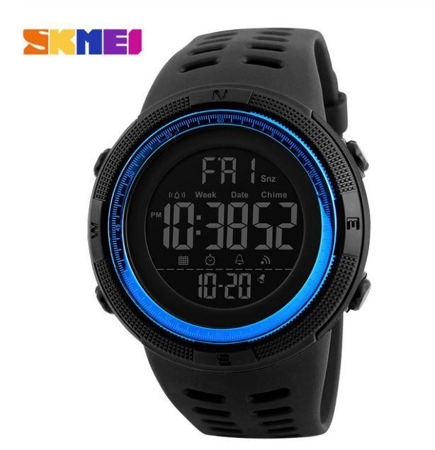 【SKMEI ファッション屋外スポーツ腕時計】メンズ多機能腕時計 アラーム時計 クロノ 5Bar 防水デジタル腕時計 A308_画像4