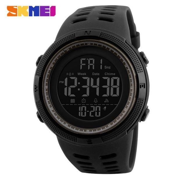 【SKMEI ファッション屋外スポーツ腕時計】メンズ多機能腕時計 アラーム時計 クロノ 5Bar 防水デジタル腕時計 A308_画像1
