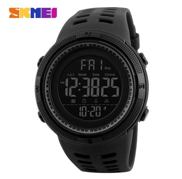 【SKMEI ファッション屋外スポーツ腕時計】メンズ多機能腕時計 アラーム時計 クロノ 5Bar 防水デジタル腕時計 A308_画像6