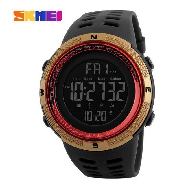 【SKMEI ファッション屋外スポーツ腕時計】メンズ多機能腕時計 アラーム時計 クロノ 5Bar 防水デジタル腕時計 A308_画像7
