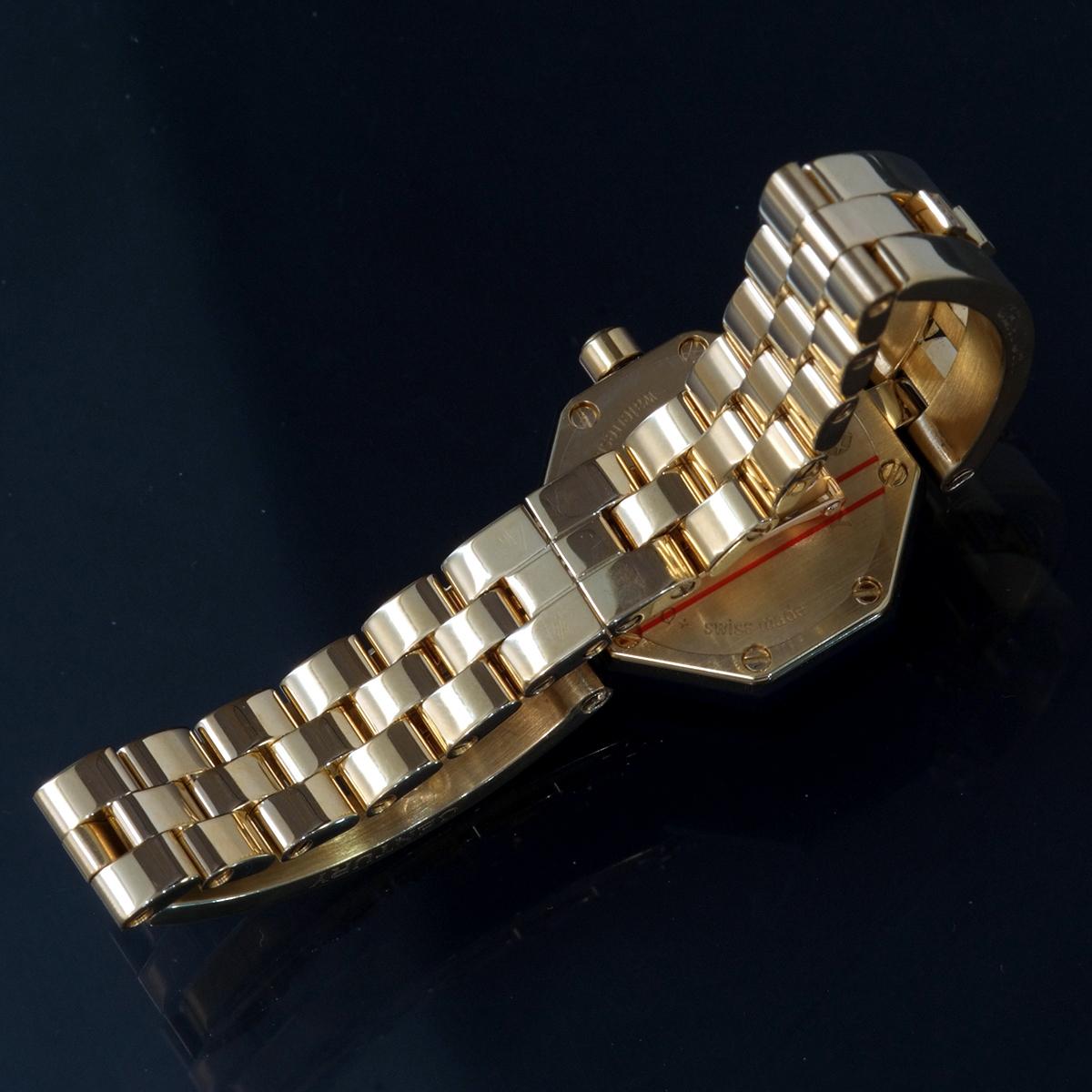 E9768【CENTURY】センチュリー 純正ダイヤモンド 最高級18金無垢セレブリティレディQZ 腕周り16cm 重量61.31g ケース幅22.7mm_画像6