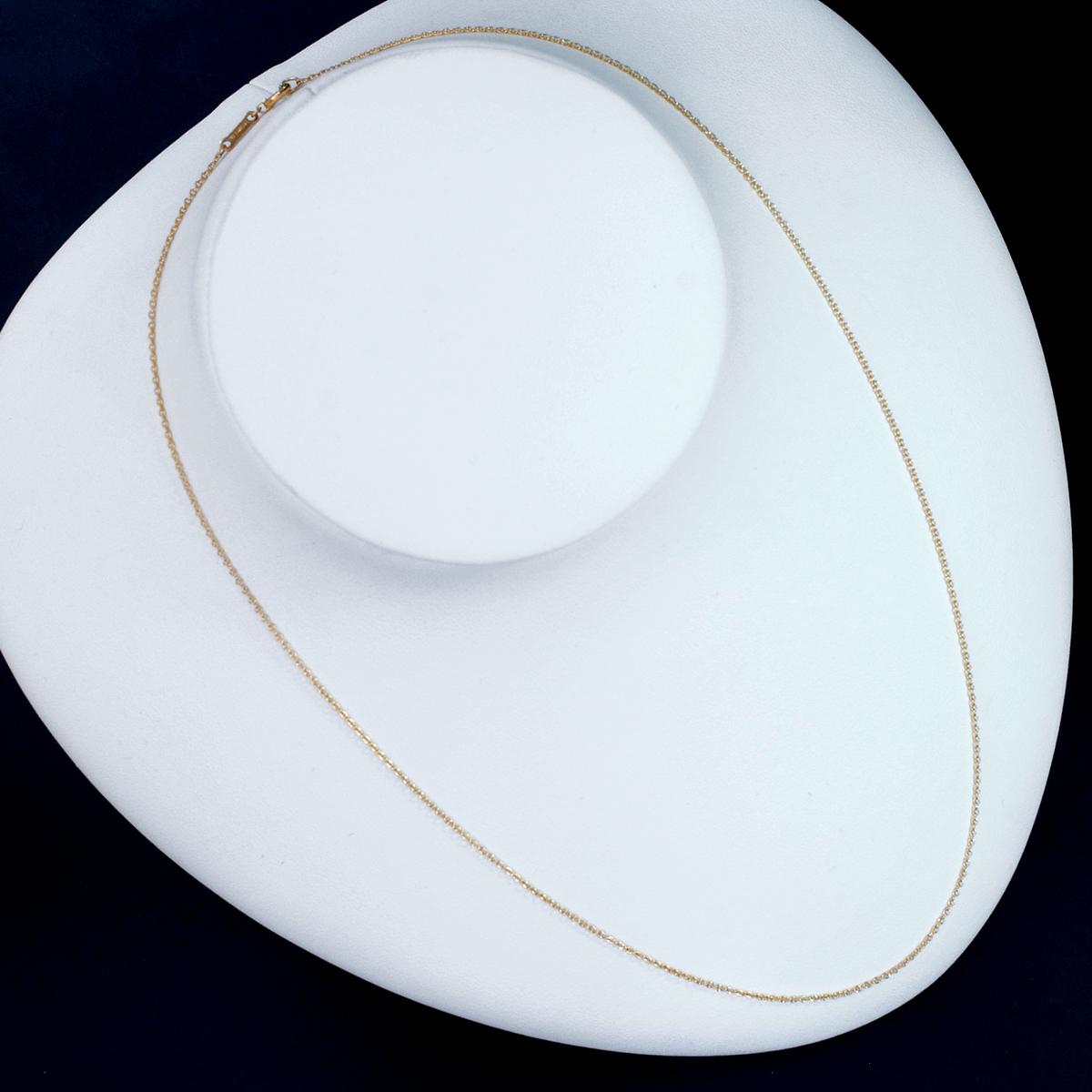 F0005【Tiffany&Co. 1837】ティファニー ペレッティ 最高級18金無垢ネックレス 長さ41.5cm 重量1.52g 幅0.6mm_画像3