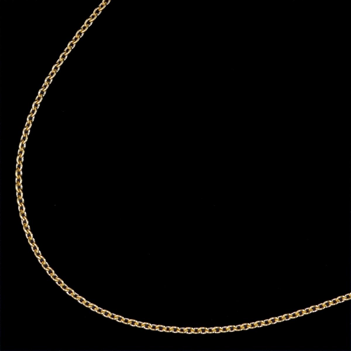 F0005【Tiffany&Co. 1837】ティファニー ペレッティ 最高級18金無垢ネックレス 長さ41.5cm 重量1.52g 幅0.6mm_画像2