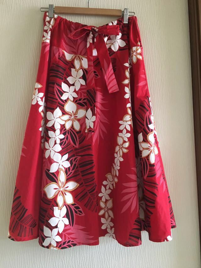 ★ルーツ ★2way ★スカート ★プルメリア ★フラダンス ★イベント ★ハワイ ★ハワイアン ★クリスマス ★クリパ ★メレフラ