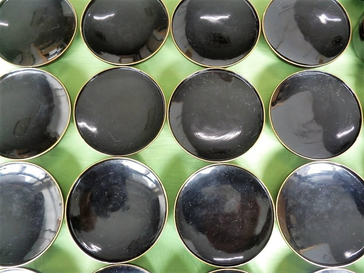 木製漆器・黒真塗、蓋付煮物碗、廿客揃「無地金縁取」会席料理道具・茶懐石道具 日本製_木製漆器・蓋付煮物碗、廿客揃の蓋拡大