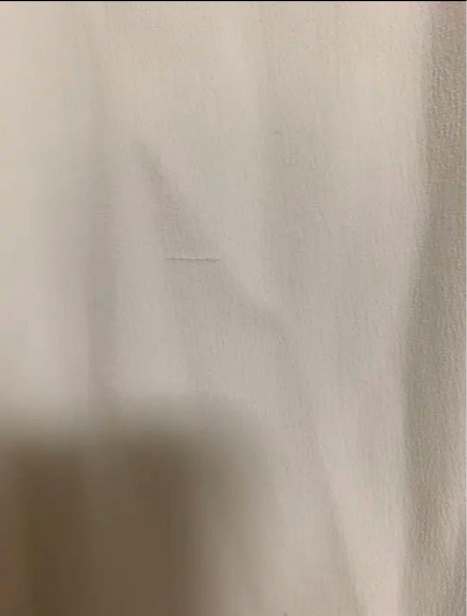 ホワイト ノースリーブひざ丈ワンピース