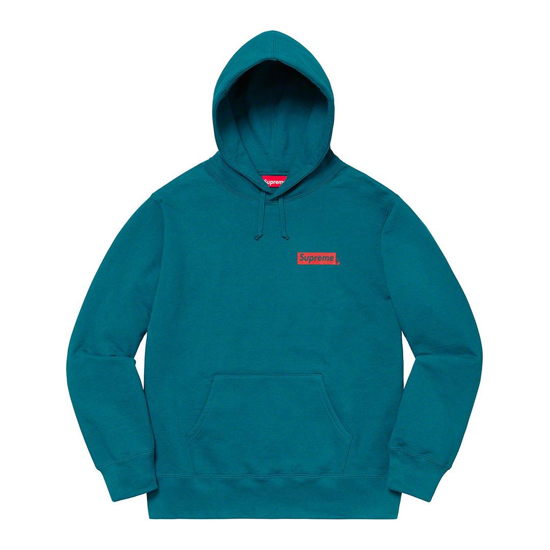 1009 Supreme/Stop Crying Hooded Sweatshirt Marine Blue Lsize BOXLOGO ストップ クライング スウェットシャツ マリンブルー 2019FW_画像2