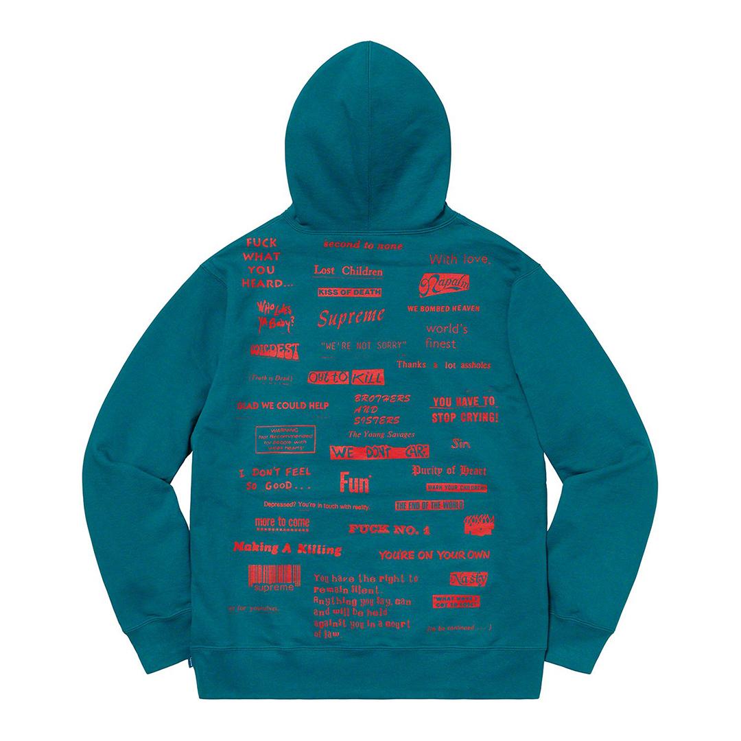 1009 Supreme/Stop Crying Hooded Sweatshirt Marine Blue Lsize BOXLOGO ストップ クライング スウェットシャツ マリンブルー 2019FW_画像3