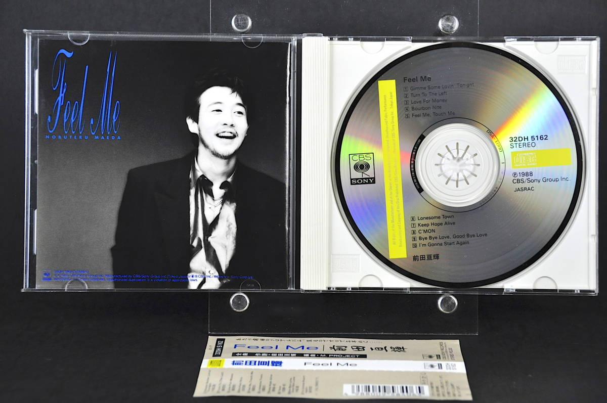 ☆ 前田亘輝 Feel Me / フィールミー 1988年盤 10曲収録 CD アルバム 32DH 5162 帯付 税表記なし 旧規格盤 CSR刻印 TUBE/チューブ 美盤!!☆_画像3