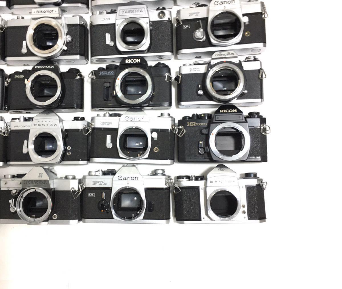 フィルムカメラ 一眼レフ マニュアル 40台 まとめ 大量セット Canon PENTAX MINOLTA Nikon YASHICA RICHO FUJICA その他 動作未確認_画像10