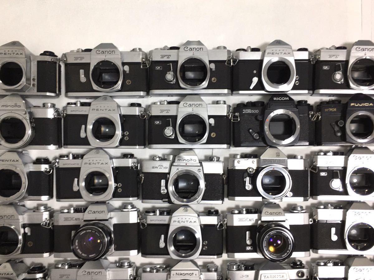 フィルムカメラ 一眼レフ マニュアル 40台 まとめ 大量セット Canon PENTAX MINOLTA Nikon YASHICA RICHO FUJICA その他 動作未確認_画像3