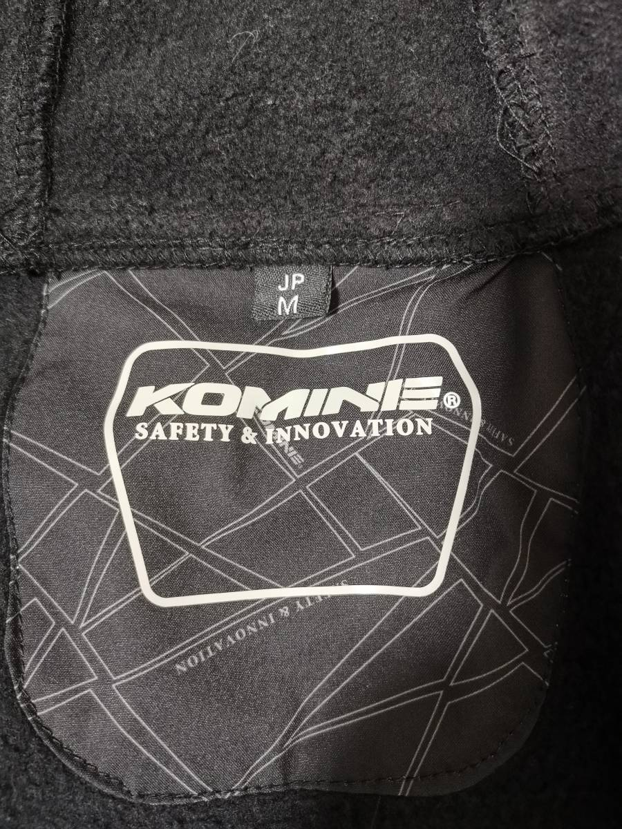 ■KOMINE(コミネ) プロテクトソフトシェルウインターパーカ(JK-590) Mサイズ 美品■インナー・プロテクター装備、秋冬向け_画像10