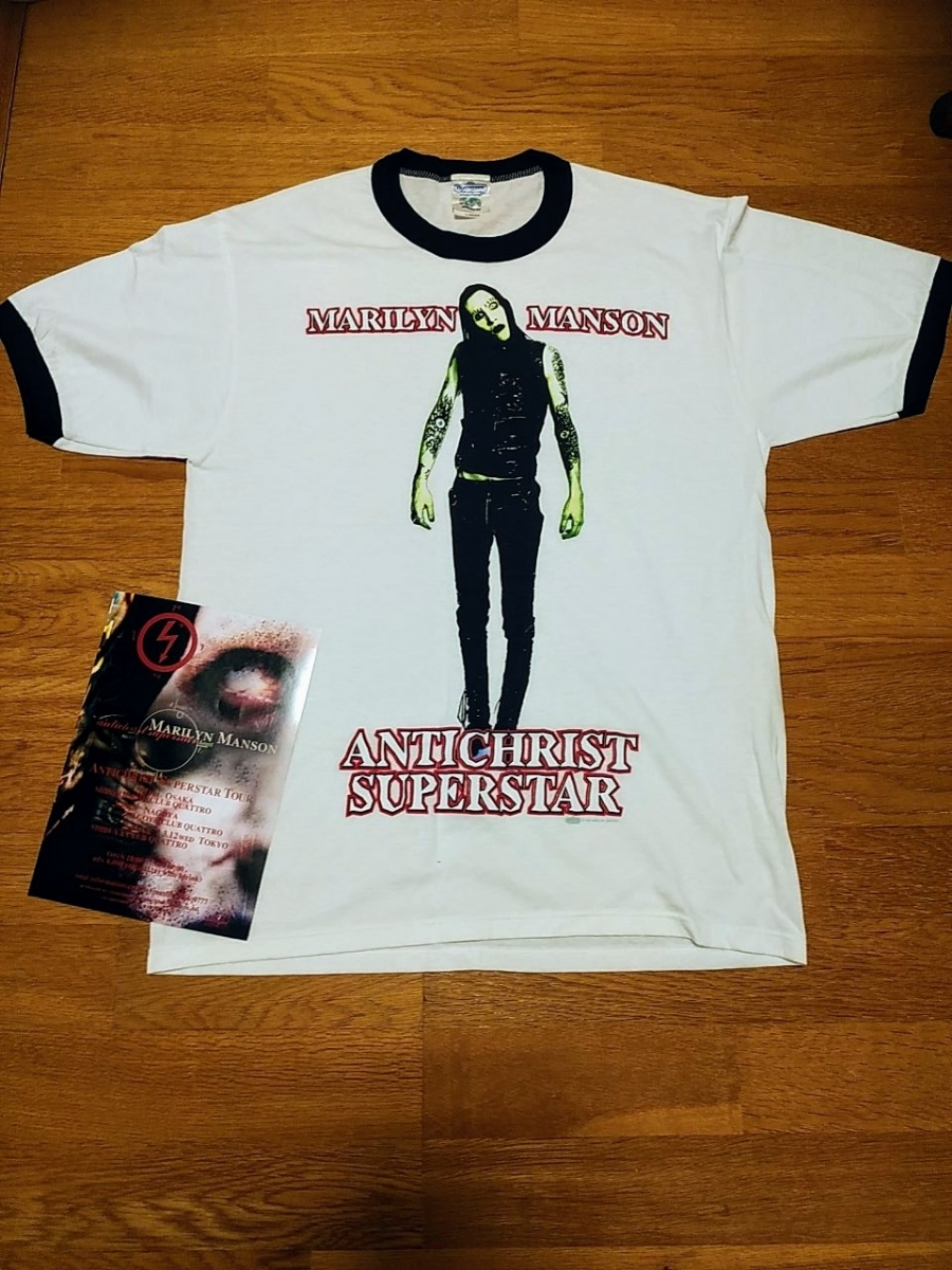 Marilyn Manson マリリンマンソン サイン 入り Tシャツ antichrist superstar 初来日 1997年 / knotfest sign tool lp nine inch nails_画像3