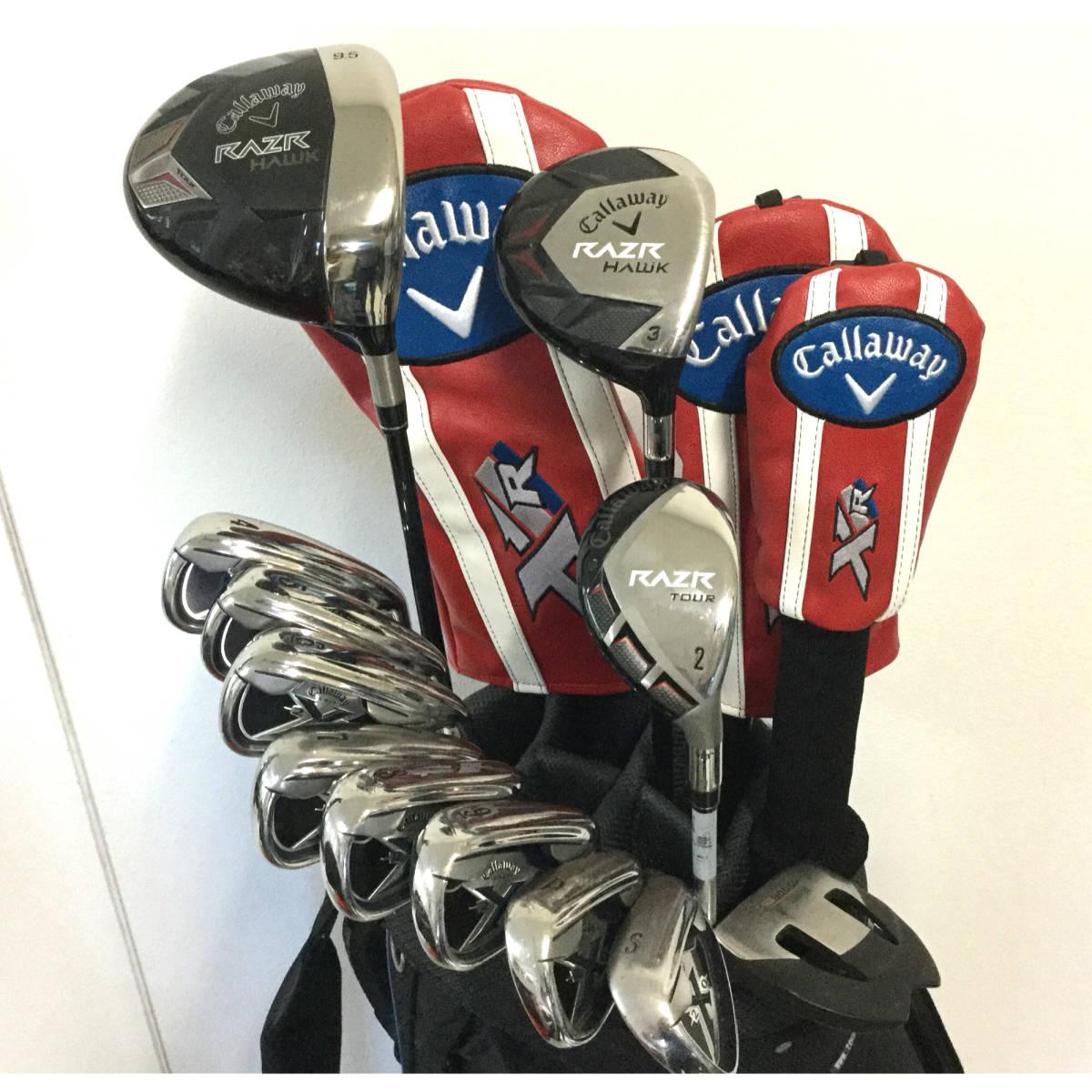 大人気キャロウェイ RAZRシリーズ&X20アイアン!グリップ綺麗です☆初めてのゴルフセットにおススメ!
