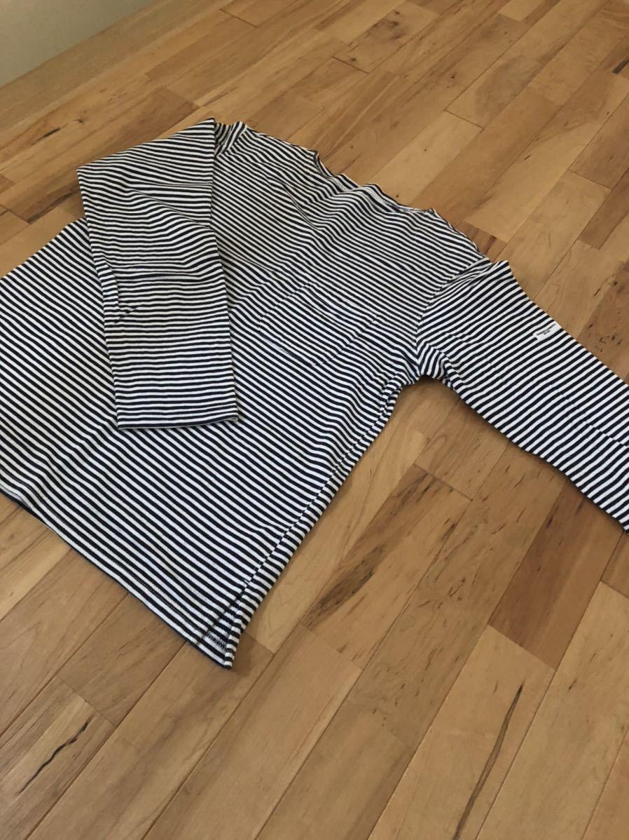 送料無料 Engineered Garments ボーダーシャツ 長袖シャツ カットソー サイズM 格安スタート