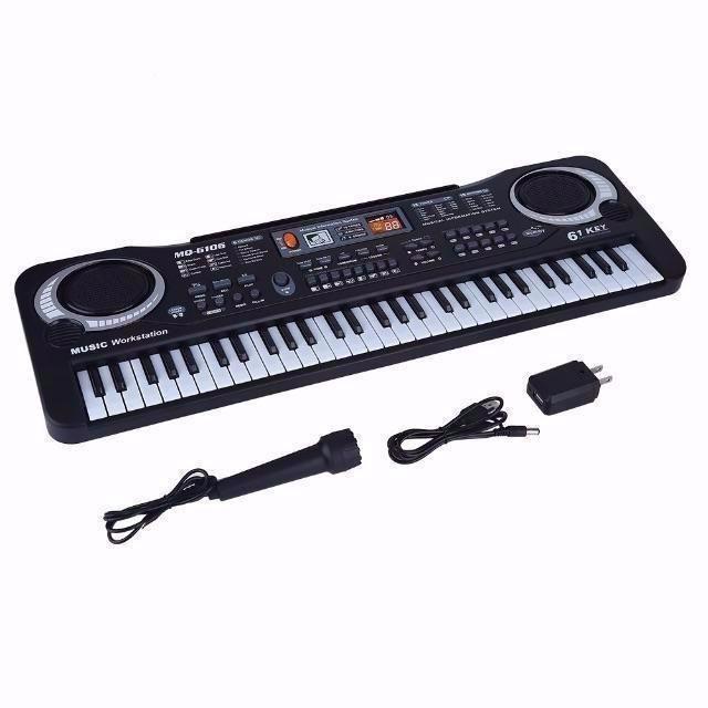 電子キーボード 61キー キッズピアノ デジタルキーボード 多機能 音楽キーボー p_画像2