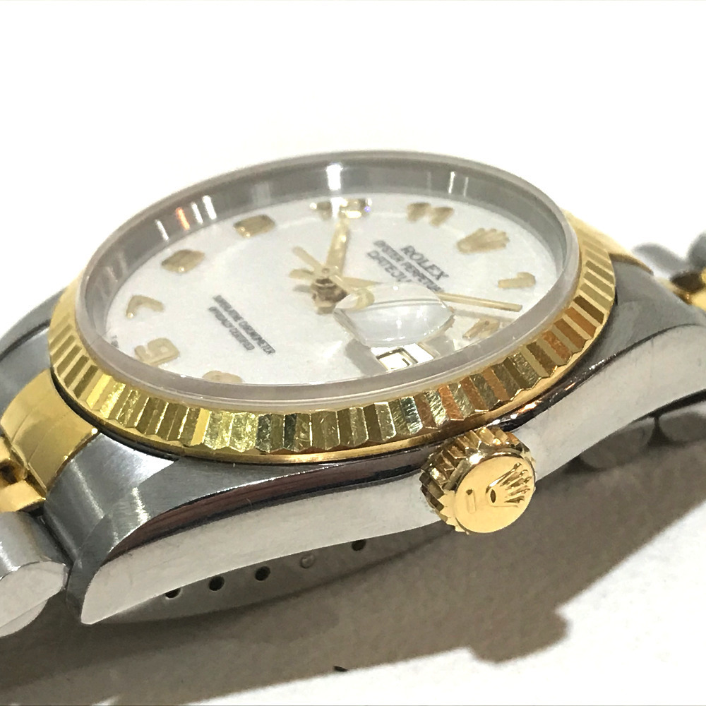 ROLEX ロレックス 16233 メンズ腕時計 デイトジャスト オイスターパーペチュアル コンピューター文字盤 K18YG/SS 自動巻き S番_画像7