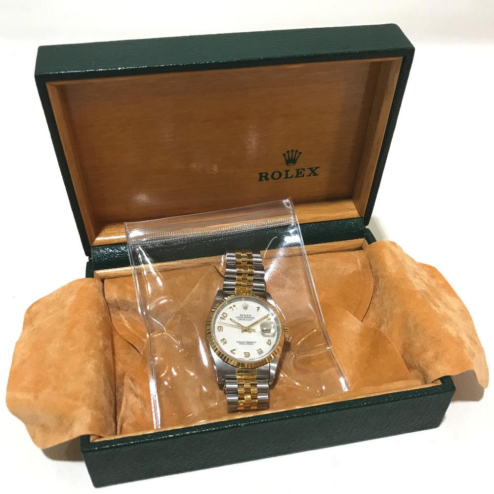 ROLEX ロレックス 16233 メンズ腕時計 デイトジャスト オイスターパーペチュアル コンピューター文字盤 K18YG/SS 自動巻き S番_画像8