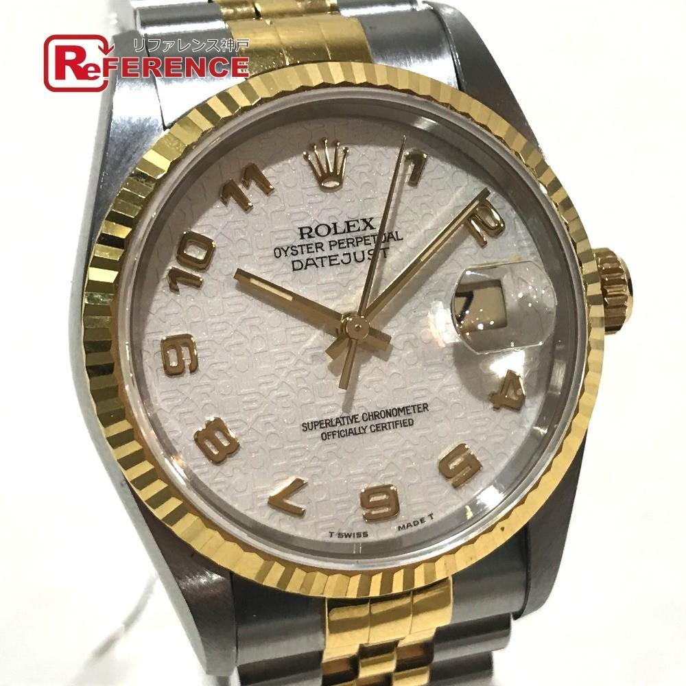 ROLEX ロレックス 16233 メンズ腕時計 デイトジャスト オイスターパーペチュアル コンピューター文字盤 K18YG/SS 自動巻き S番_画像1