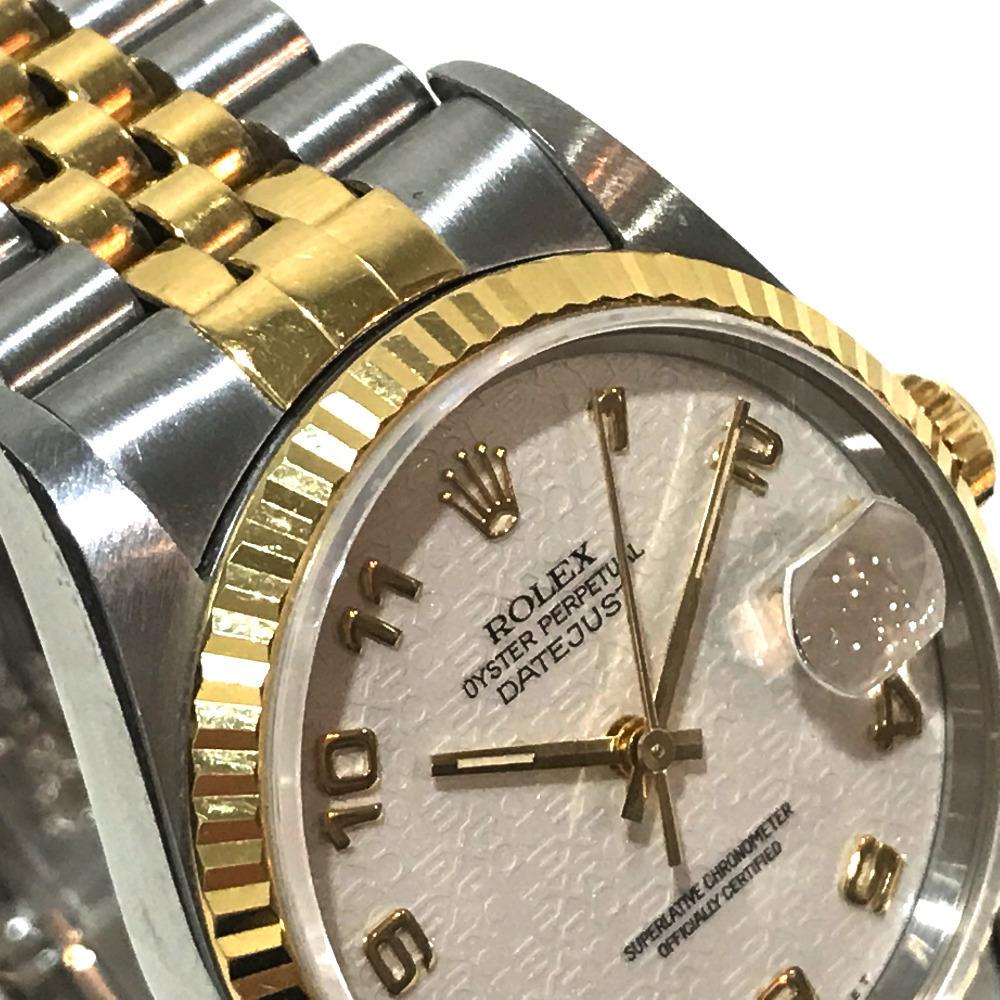 ROLEX ロレックス 16233 メンズ腕時計 デイトジャスト オイスターパーペチュアル コンピューター文字盤 K18YG/SS 自動巻き S番_画像3