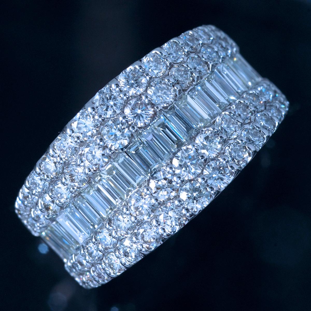*R4494 新品!業者向け令和新作モデル!天然上質ダイヤモンド2.00ct 最高級Pt900無垢セレブリティリング